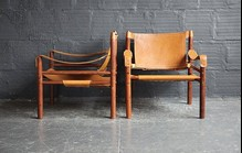 Leather brown chairs1