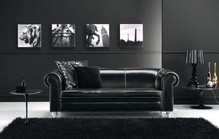 Black leather sofa1